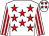 White, red stars, striped sleeves, white cap, red stars (Lettermacaward Partnership)