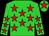 Lime green, red stars, red star on cap (Avaz Ismoilov)
