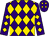 Purple, gold diamond frame 'crk' on back, gold diamonds on front and sleeves (C R K Stable Llc)