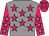 Grey body, rose stars, rose arms, grey stars, rose cap, grey stars (C Pasik)