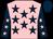 Pink, dark blue stars, dark blue sleeves, pink stars, dark blue cap (N Hodge & I Hodge)