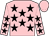 Pink, black stars, pink cap (M 5 Stable)
