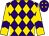 Purple, gold diamonds, purple chevron on gold sleeves (Gene Voss)