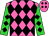 Hot pink, black diamonds, lime sleeves, black diamonds (Sackett, Rick And Gordon, Ariel)