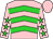 Pink, lime green chevrons, lime green stars on sleeves (Elizabeth Feight)