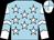 Light blue, white stars, light blue chevrons on white sleeves, white & light blue quartered cap (Enrico Chow Yue Hin)