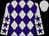 Silver and purple diamonds, purple stars on silver sleeves, silver cap (Michael Lau Chor Chiu & Steve Lau Tsz Chung)