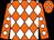 Orange, white diamonds (Mitre Box Stable)