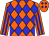 Orange, blue diamonds, blue stripes on sleeves (Moran, Betty L And Moran, Shelley)