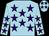 Light blue, purple stars (Mr & Mrs C R Whittaker)
