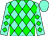 Aqua, green diamonds, aqua cap (Charlton Stable Llc)