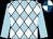 Light blue, white diamonds, light blue sleeves, royal blue and white quartered cap (St Paul's Boys Syndicate)