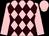 Pink and brown diamonds, pink sleeves and cap (Mareildar Racing Part 1)