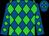 Royal blue, lime diamonds (Rsl Racing Stable)