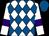 White, royal blue diamonds, purple armlets on sleeves,royal blue cap (Maher E Lutfalla)