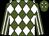 Forest green, white diamonds, white stripes on sleeves (G Humphrey, Jr)