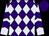 Purple, lavender diamonds, lavender sleeves, purple chevrons, purple cap (Harold Lerner Llc, Awc Stables, Akman, Scott K And Nehoc Stables)