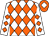 White, orange diamonds, orange cap, white diamond (Messrs R J Fourie, G N Wiggill, G W Whittaker & Mr)