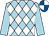 Light blue, white diamonds, light blue sleeves, royal blue and white quartered cap (St Paul's Boys Syndicate)