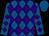 Royal blue, purple diamonds, purple diamonds on sleeves, royal blue cap (Morris Bailey)