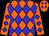 Orange and blue diamonds (M Grimmett)
