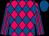 Fuchsia, royal blue diamonds, fuchsia stripes on royal blue sleeves, royal blue cap (Champion Equine Llc)
