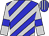 Blue, silver diagonal stripes and sleeves, blue armband, striped cap (Ms N H Kropman & Mr B O Wiid)