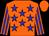 Orange, blue stars, orange, blue striped sleeves, orange cap (Te Akau Torcedor (mngr: David Ellis))