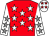 Red, white stars, white sleeves, grey stars, white cap, red stars (Mintd Syndicate)