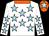 White, sky blue stars, orange collar and cap, sky blue star (Messrs Mervyn Singh & Mikshay Singh)