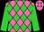 Hot pink, lime diamonds, lime sleeves (Carrol Stubbs)