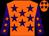Orange, purple stars, purple sleeves, orange stars (David Smart)