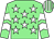 Light green, white stars, chevrons on sleeves, striped cap (Ever Equine & J S Moore)