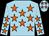 Light blue, orange stars (Crawford-smith Family)