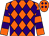 Orange, purple diamonds, purple hoops on sleeves (Michael Lay)