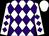 White, purple diamonds, white cap (Janssen, Jay And Joan)