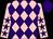 Pink and purple diamonds, pink sleeves, purple stars, purple cap (Mr Tony Betteridge)