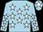 Light blue, white stars, light blue cap, white star (The Folly Partnership)