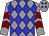 Grey, blue diamonds, maroon chevrons on grey sleeves (Duvieilh, John And Hernandez, Keith J And Earl J)