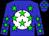 Blue, white ball, green stars (Gonzalez, Luis M And Vallejo, Ricardo R)