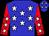 Blue, white stars, white stars on red sleeves (John Corriveau)