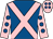 Royal blue, pink cross sashes, pink sleeves, royal blue spots, pink cap, royal blue spots (Jp Bonardel/b Mekki/n Ricignuolo)