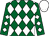 Kelly green, white diamonds, white cap (Francisco Benavides)