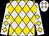 Lavender, gold diamonds, gold diamonds on sleeves (M Baker)