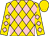 Gold, pink diamonds, gold cap (Diamond 100 Racing Club, Llc, Trussell, Robert And Patrick L Biancone, Llc)