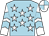 Light blue, white stars, light blue chevrons on white sleeves, white & light blue quartered cap (Enrico Chow Yue Hin)