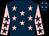 Dark blue, pink stars, pink sleeves, dark blue stars (Mrs Juliet Minton)