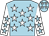 Light blue, white stars, white sleeves, light blue stars (Sky's The Limit)