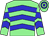 Light green, blue chevrons, hooped cap (P Stokes)