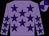 Mauve, purple stars, quartered cap (Pete & Pauline Wordingham & Partner)